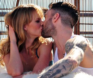adam levine, anne vyalitsyna, and kiss image