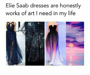 dress, art, and ellie saab image