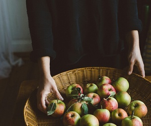apple, vintage, and fruit image