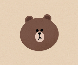 bear, line, and wallpaper image