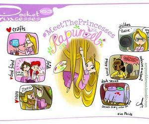 rapunzel, pocket princesses, and disney image