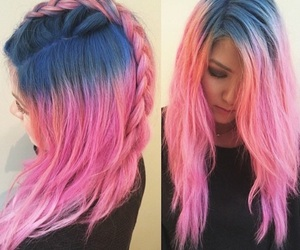 pink, blue, and hair image
