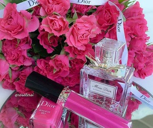 cosmetics, pink, and roses image