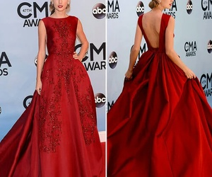 dress, red, and Taylor Swift image