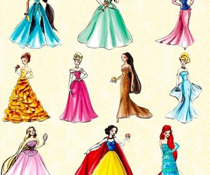 princess, disney, and dress image