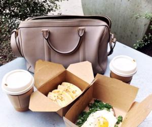 food, coffee, and bag image