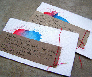 business card and graphic design image