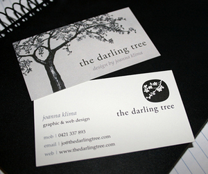 tree and business card image