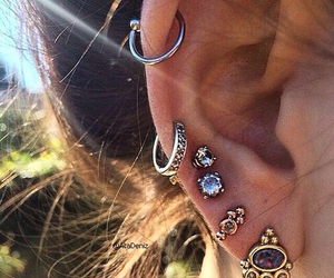 girl, piercing, and trendy image