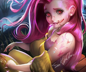 art, fluttershy, and anime image