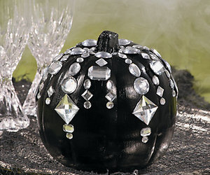 decoration, Halloween, and jeweled pumpkin image
