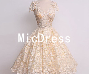 prom dresses, lace prom dress, and homecoming dress image