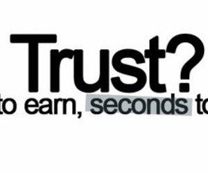 quote, trust, and break image