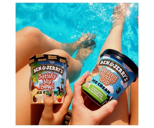 peanut butter cup, summer, and swimming image