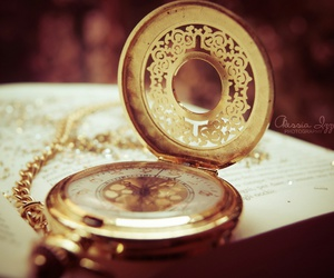 clock, gold, and vintage image