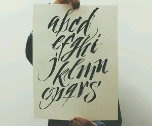 alphabet, black, and calligraphy image