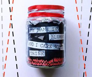 art, black, and mason jar image
