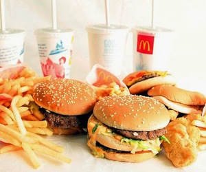 food, McDonalds, and burger image