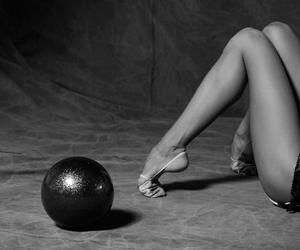 balett, black and white, and music image