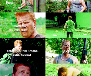 the walking dead and abraham ford image