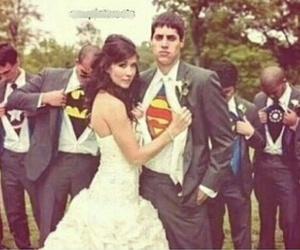 wedding, superman, and batman image
