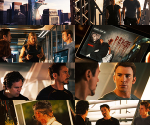 chris evans, Collage, and mark ruffalo image