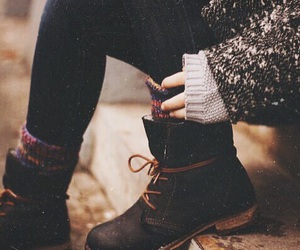 autumn, boots, and shoes image