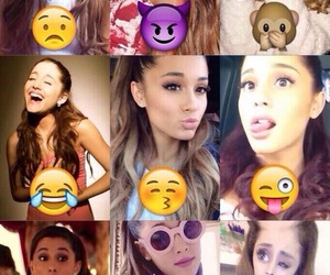 ariana grande, emoji, and emojis image