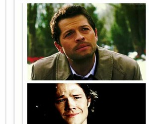 dean winchester, demon, and sam winchester image