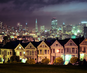 city, lights, and house image