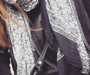 bag, jacket, and scarf image