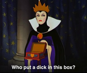 dick, snowwhite, and evil queen image