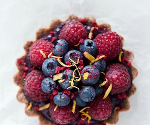 blueberry, food, and tart image