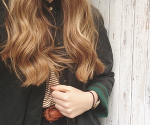 autumn, fashion, and long hair image