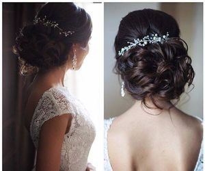 hair, look, and wedding image