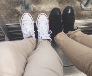 converse, white, and high tops image