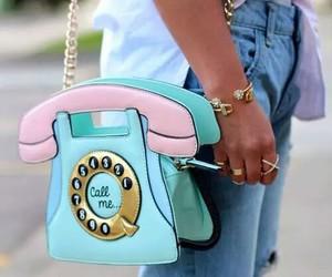 fashion, bag, and phone image