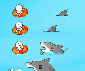 shark, funny, and friends image