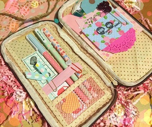 pastel, planner, and pencil pouch image