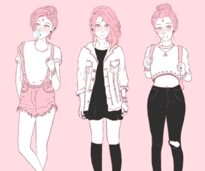 pink, hipster, and art image