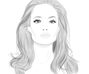 Angelina Jolie, art, and bw image