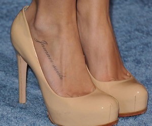 ashley tisdale, shoes, and tatto image