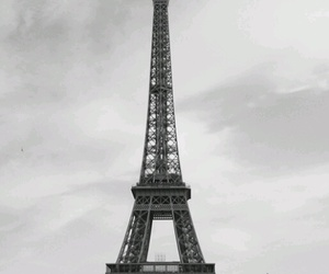 black and white, tour eiffel, and france image