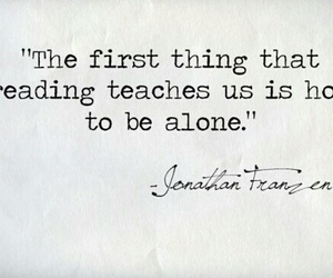 quotes, book, and alone image