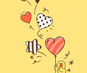 heart, red, and yellow image