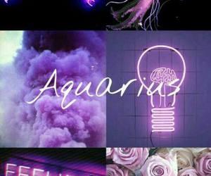 aquarius, zodiac, and ♒ image