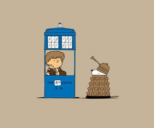 Dalek, doctor who, and snoopy image