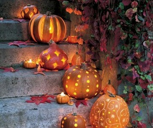 Halloween, pumpkin, and autumn image