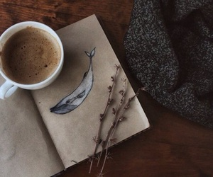 coffee, whale, and art image