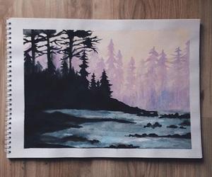 watercolour, alternative, and art image